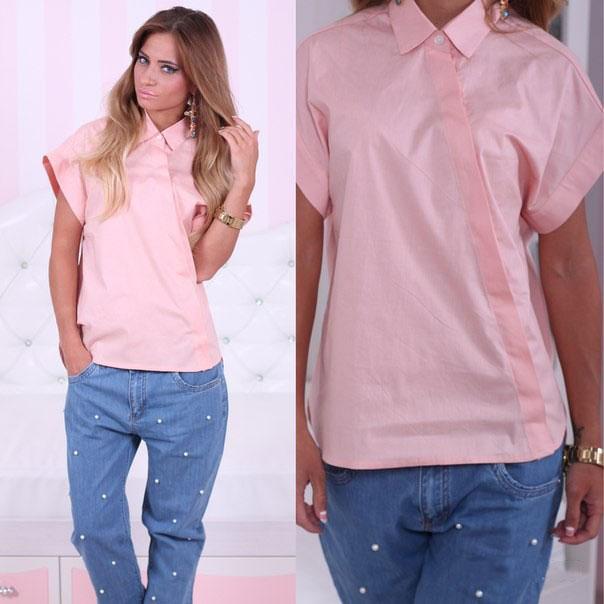 ec5f0acc2ef Женская розовая рубашка (40 фото)  с чем носить