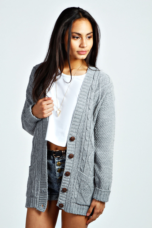 4a857aa0c423 Серый кардиган (42 фото): женские модели, с чем носить и с какими ...