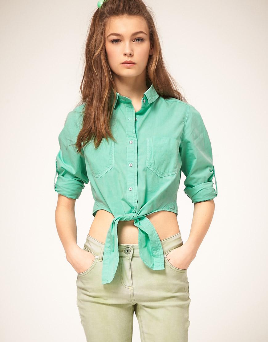 397c7f3d80e9c93 Зеленая рубашка (28 фото): с чем носить, темно- и светло-зеленые женские  модели