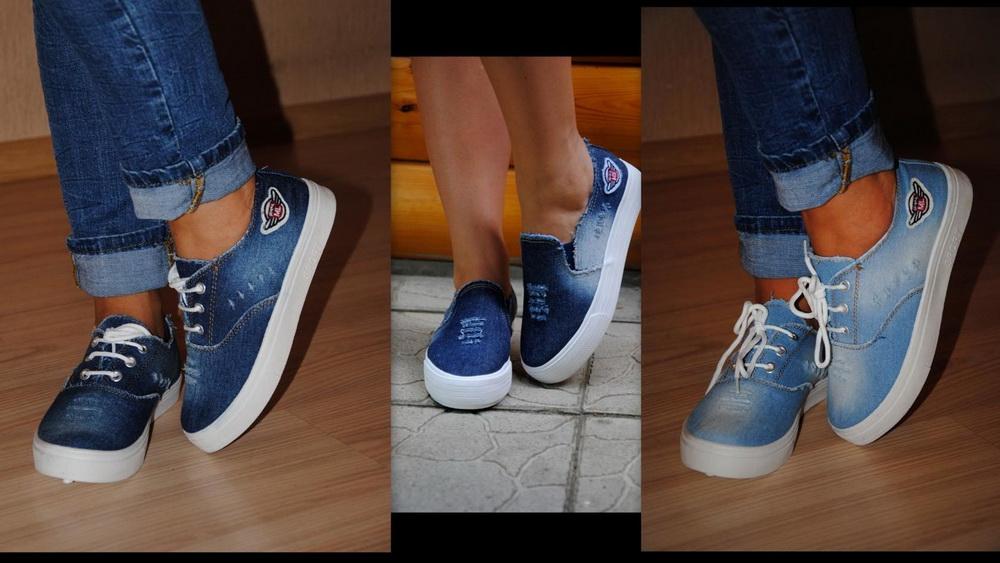 Как украсить слипоны своими руками джинсовые 38