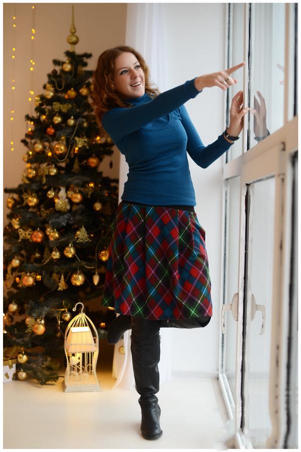 Купить теплую длинную юбку осень-зима