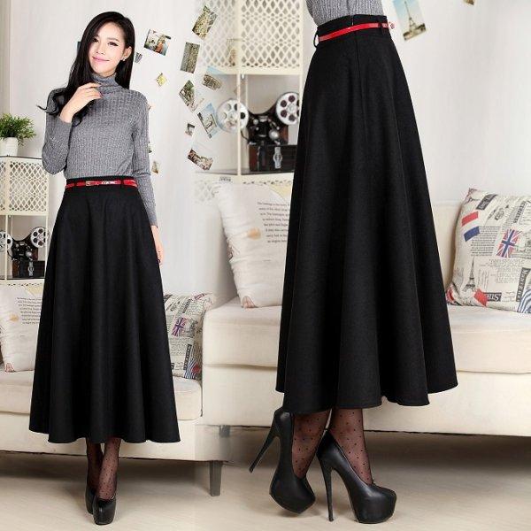 Модели тёплой юбки