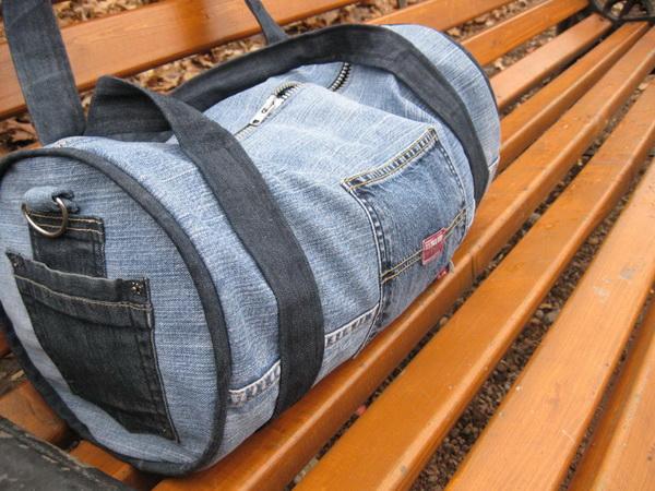 Спортивная сумка своими руками из старых джинс