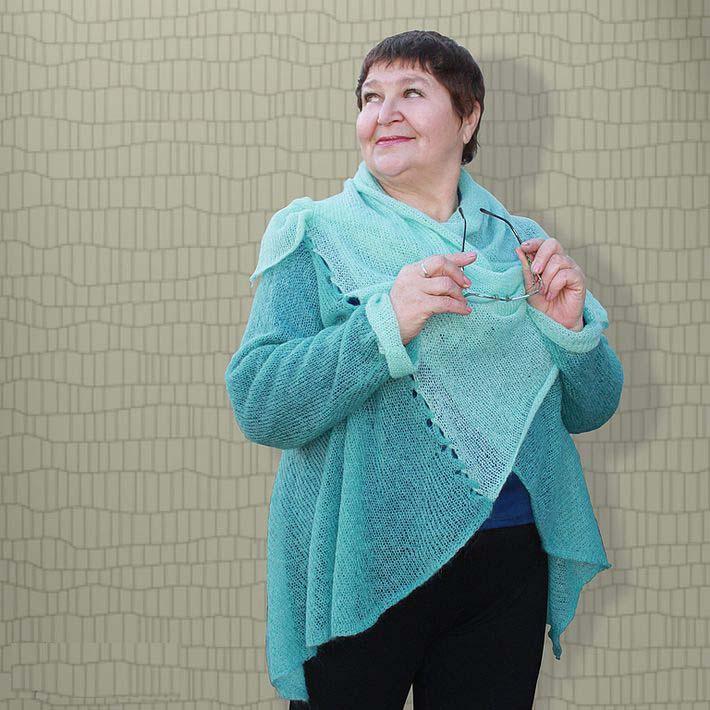 Видеоуроки вязание спицами для полных
