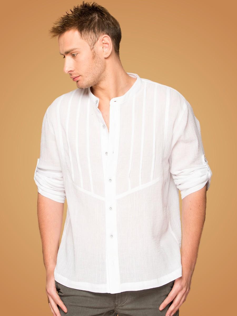 белые рубашки из хлопка на лето мужские