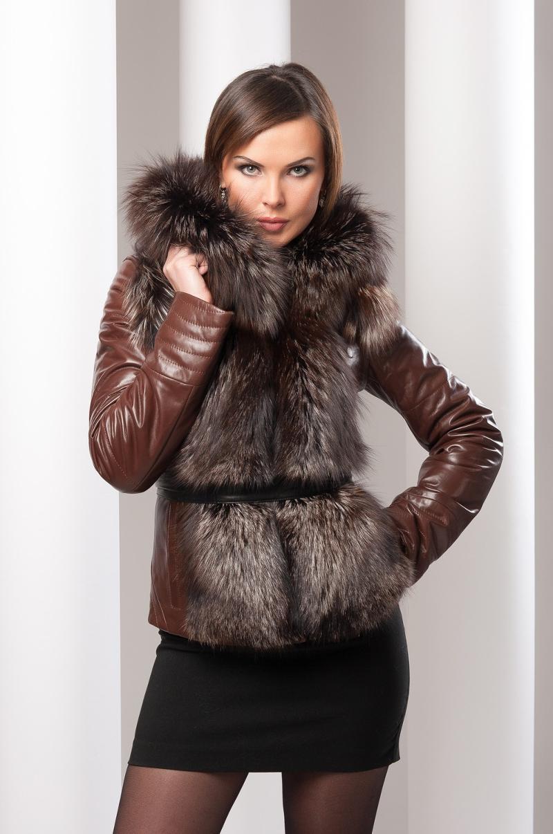 кожаные зимние куртки с мехом фото женские