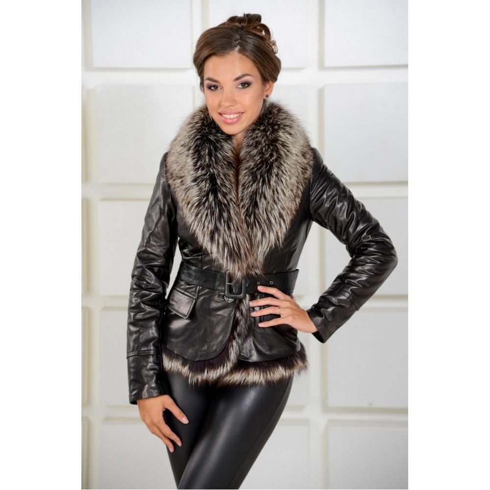Куртки зимние женские кожаные