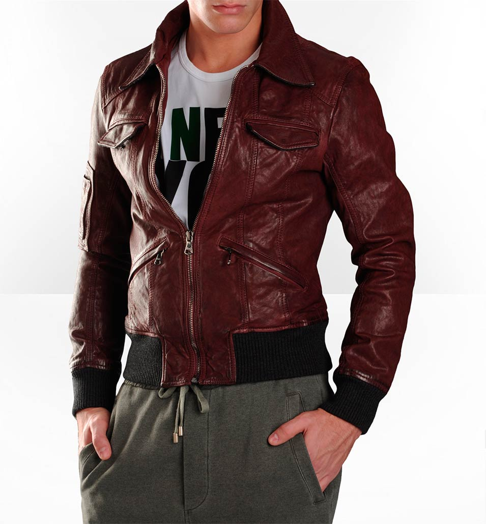 Новые кожаные куртки с мехом