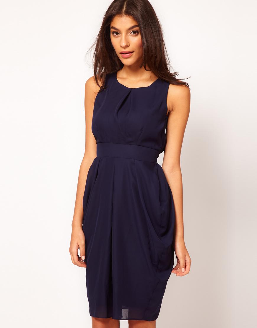 Платье тюльпан миди