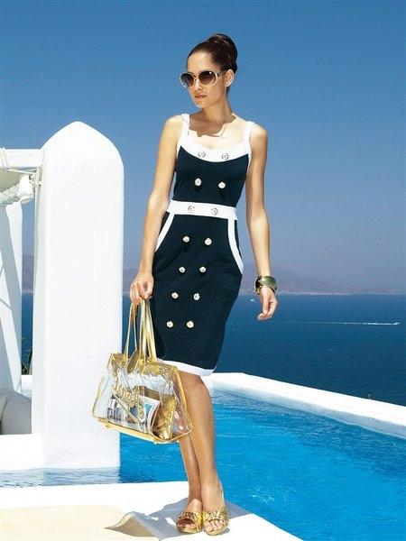 Сшить платье морской стиль