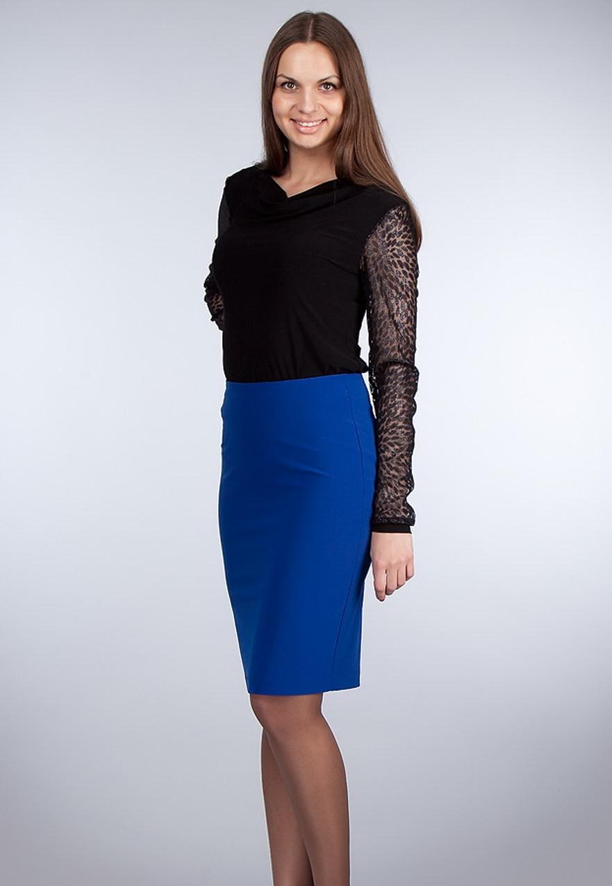 синяя юбка карандаш купить
