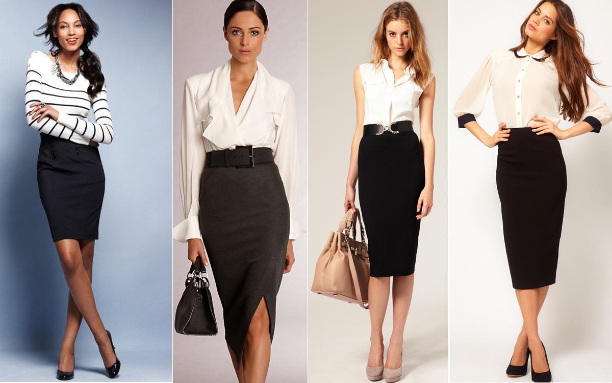 Как красиво одеть блузку с юбкой