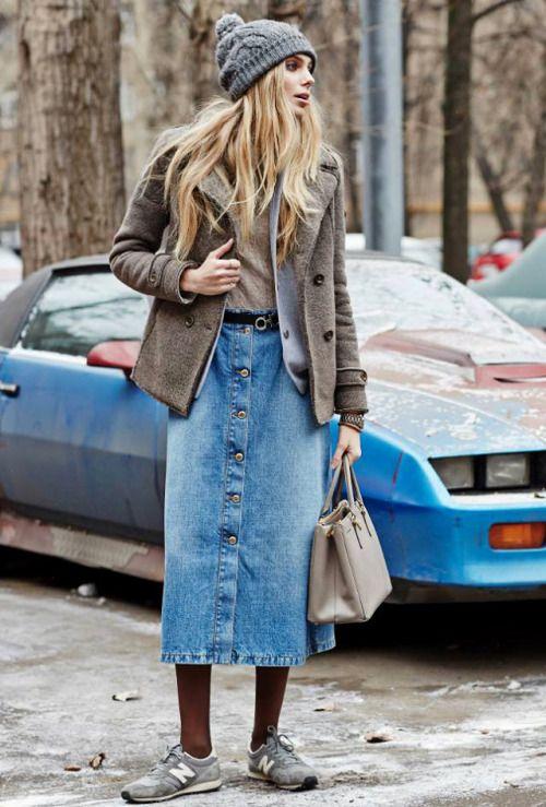 Юбка миди из джинс