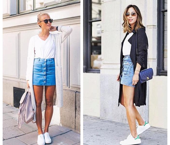 Джинсовые юбки типы