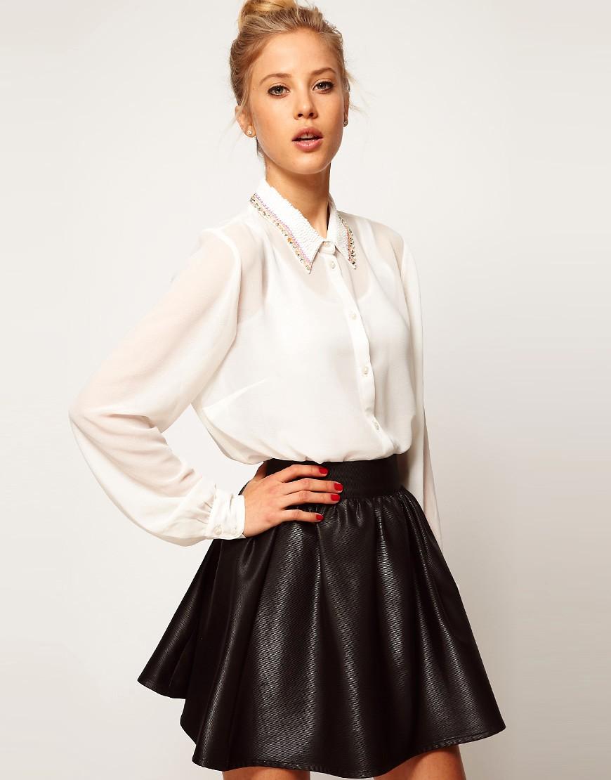 Прическа которая подойдет для юбки с блузкой