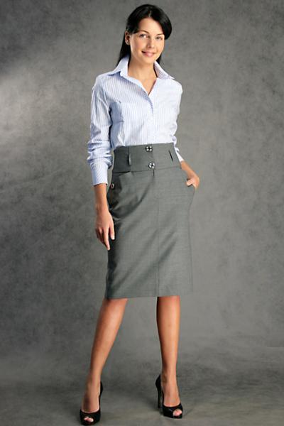 модели юбок в горох