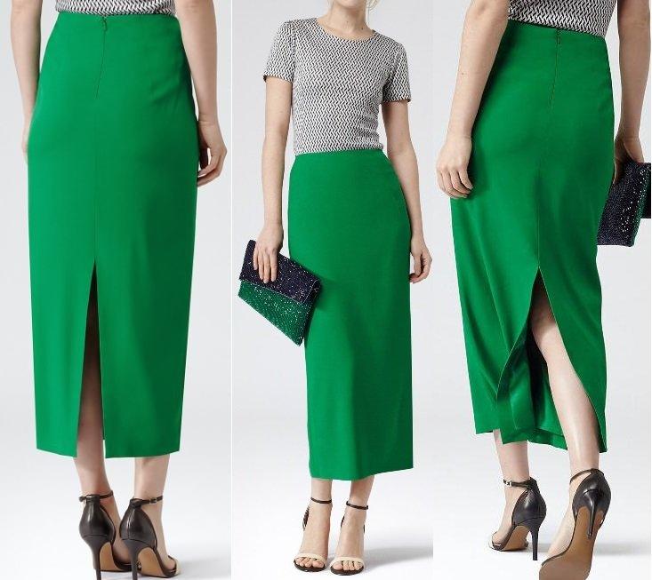 bf4840563e3 Зеленая юбка-карандаш (28 фото)  с чем носить