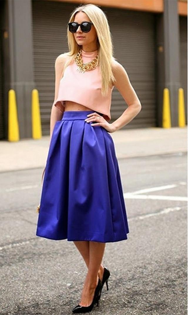 Топик и юбка с завышенной талией