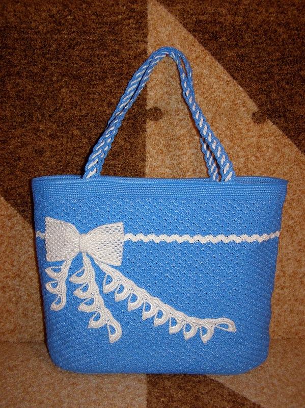 Вязание из пакетов крючком сумок 266