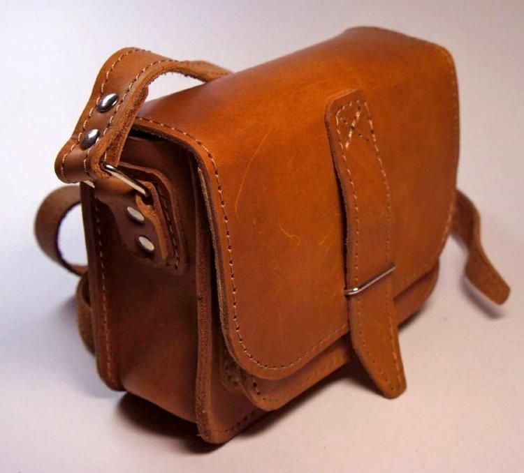 Сшить мужскую сумку из кожи своими руками 6