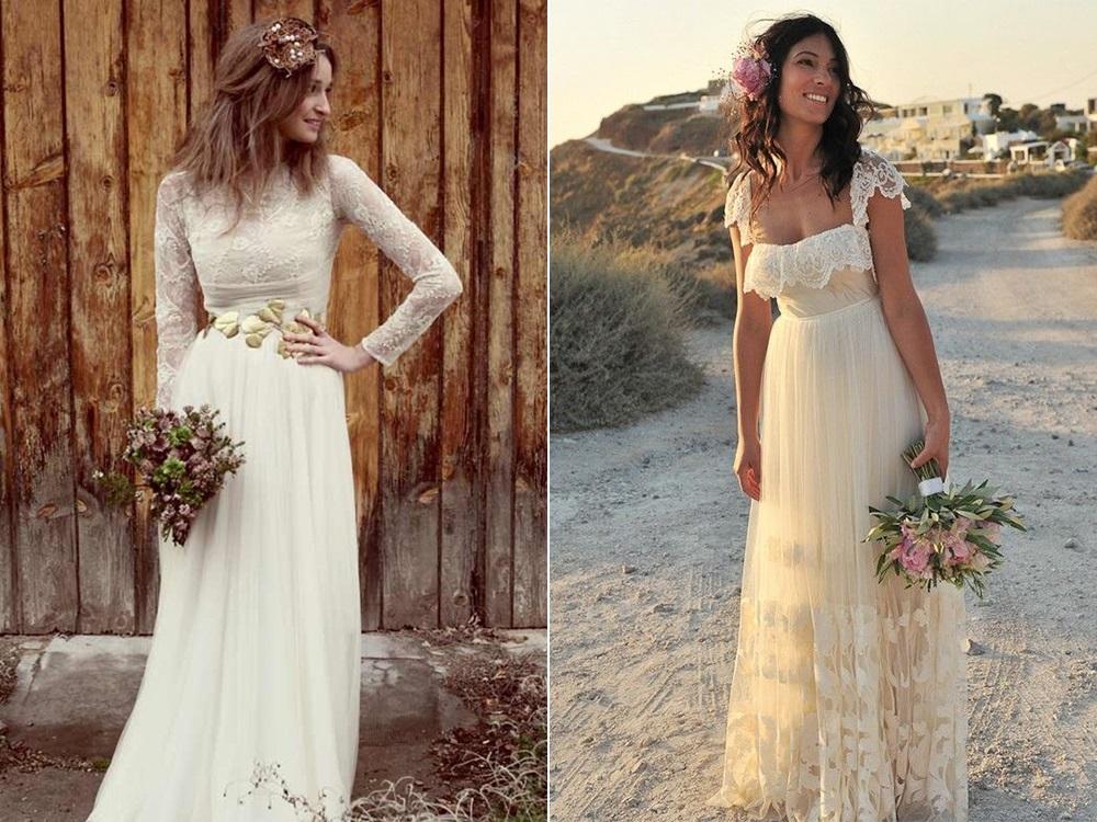 Свадебное платье в деревенском стиле