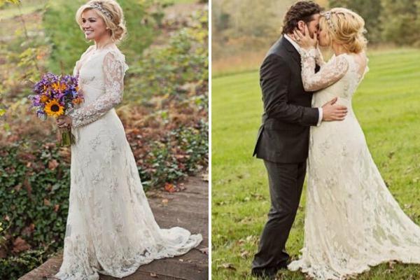 Свадьба в стиле рустик платья