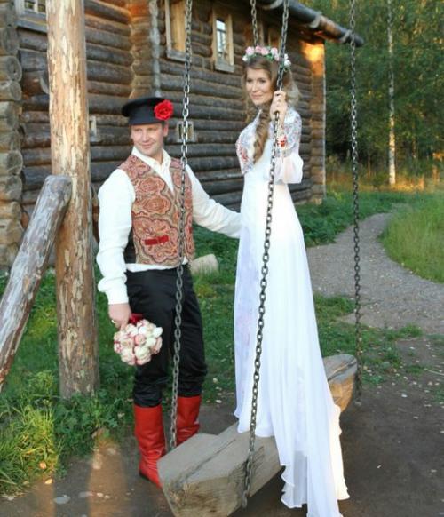 Старорусское платье свадебное