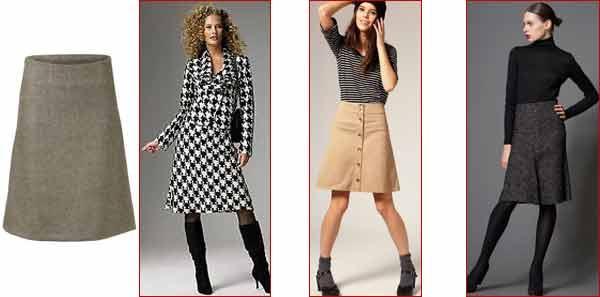 Модные юбки а силуэта