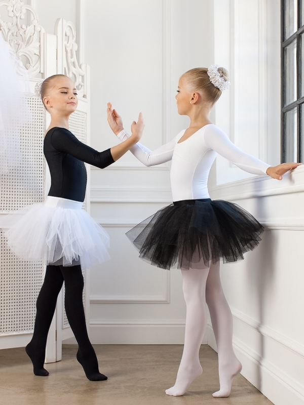 Черная юбка для хореографии