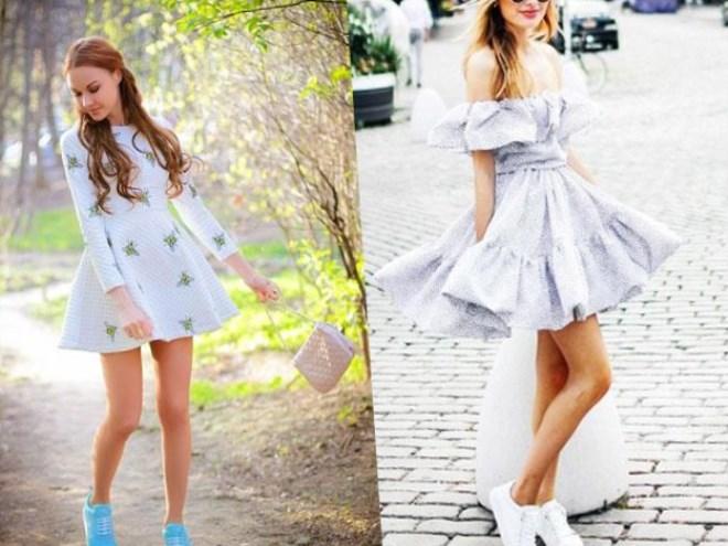 Белые модные юбки фото