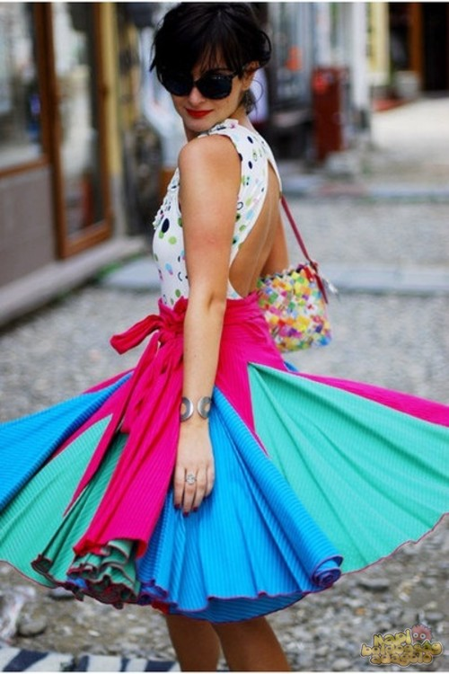 Завышенная юбка солнце