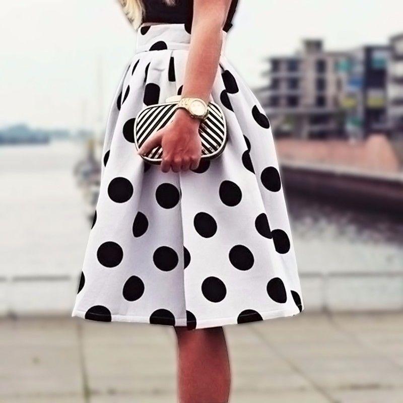 Модная юбка в горох