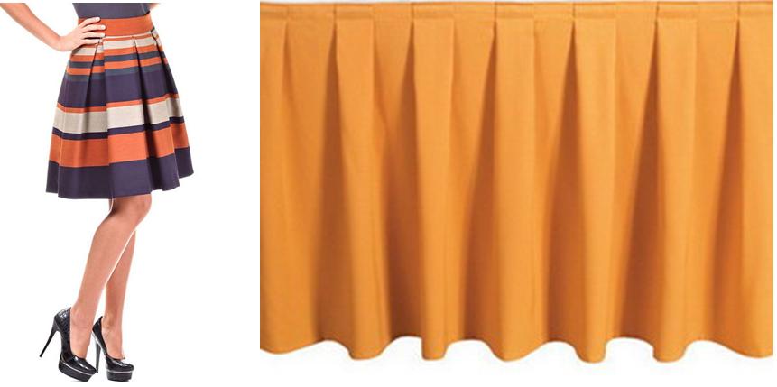 Как сшить юбку в складку с резинкой 716