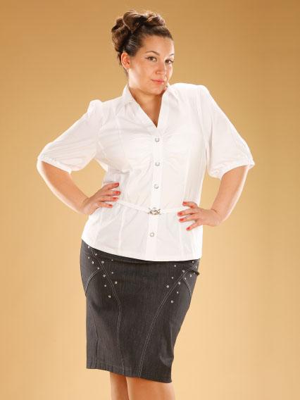 Белая Блузка Большого Размера С Доставкой