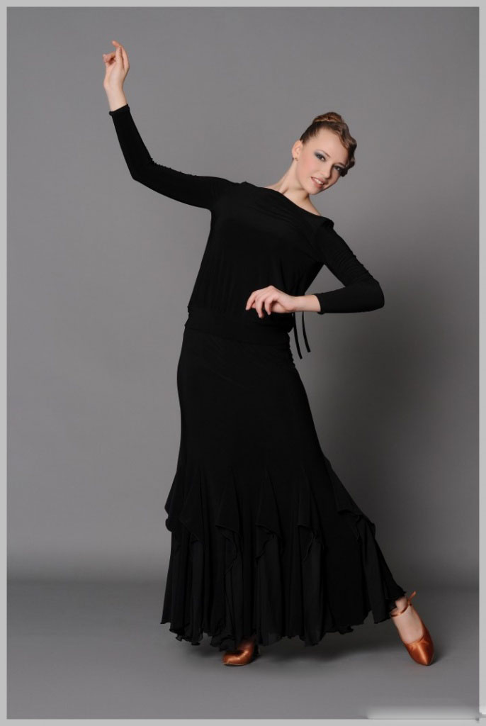 юбка для бальных танцев стандарт