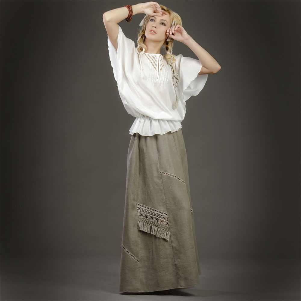Что одеть к льняной юбке