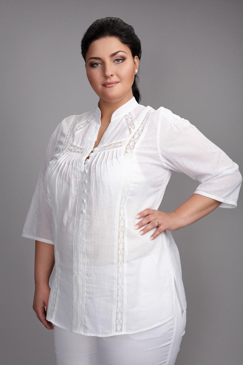 Белые Блузки Для Полных Женщин