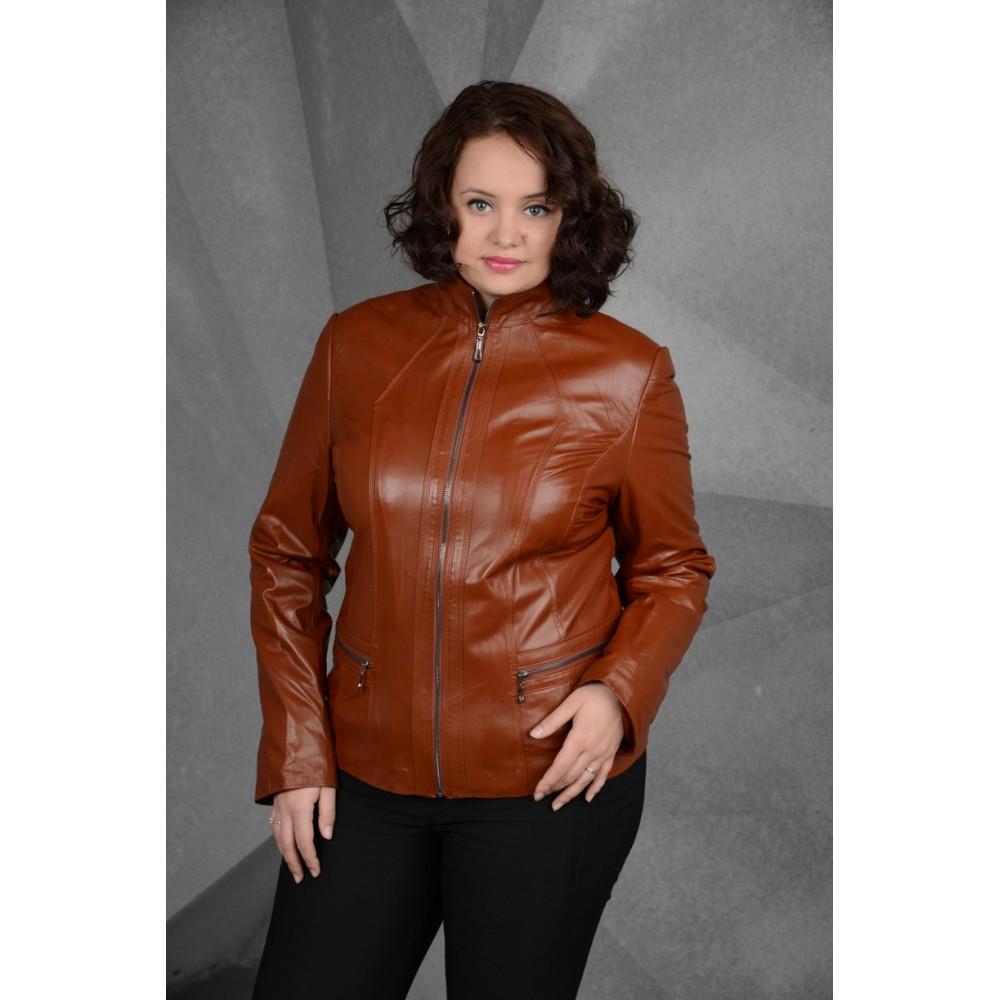 продажа кожаных курток женских больших размеров