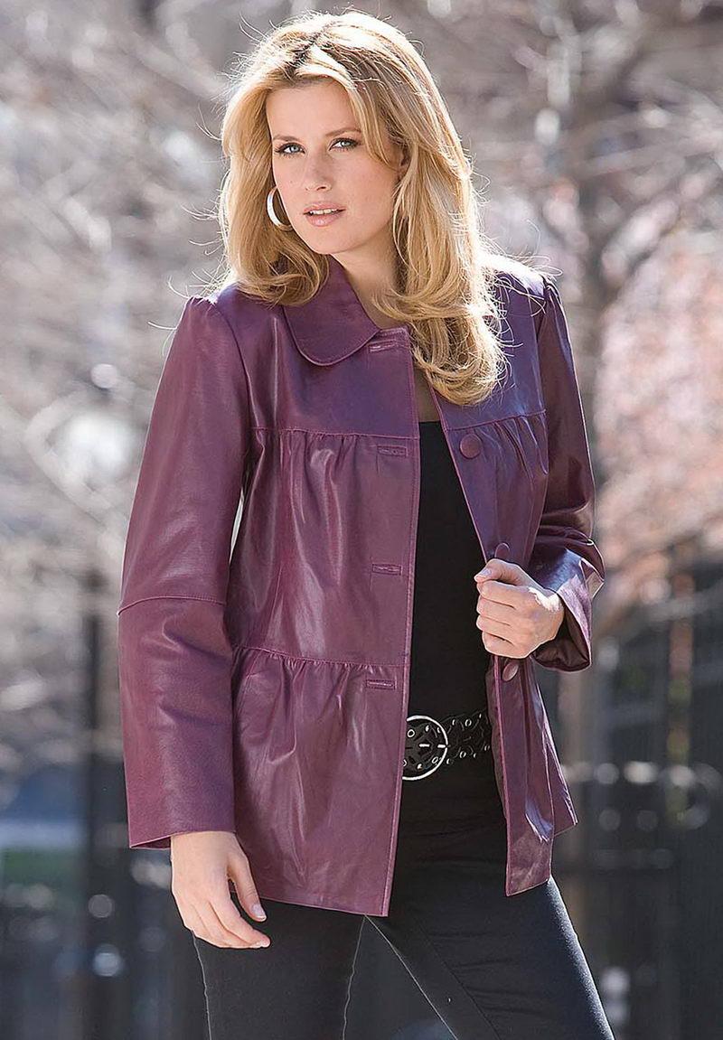 Модная зимняя куртка женская большого размера 43