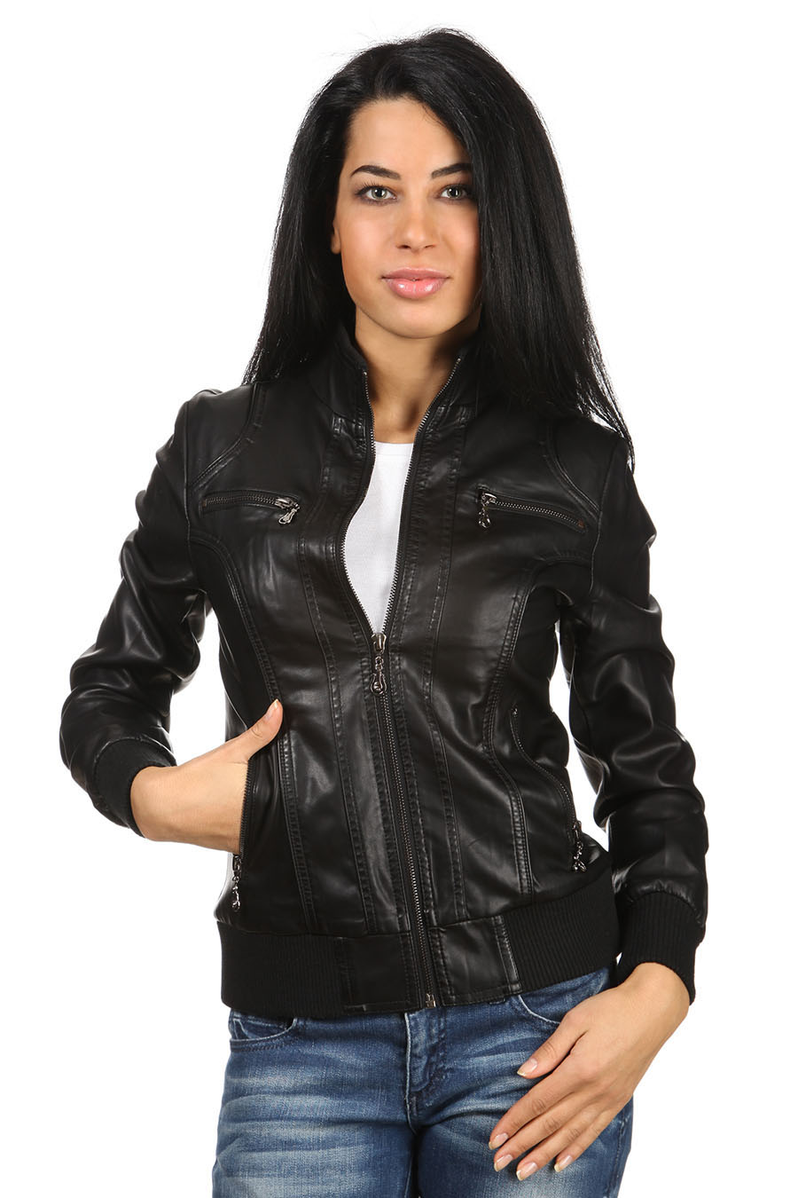 Купить Женскую Куртку Кожзам В Москве