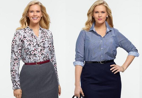 Женские блузки для полных