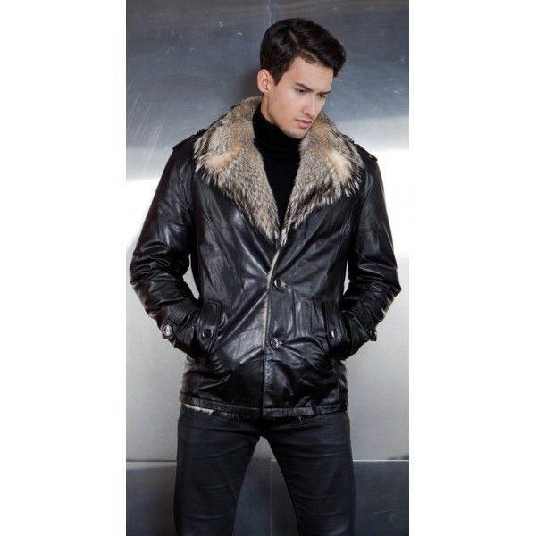 Зимние мужские курткы с натуральным мехом