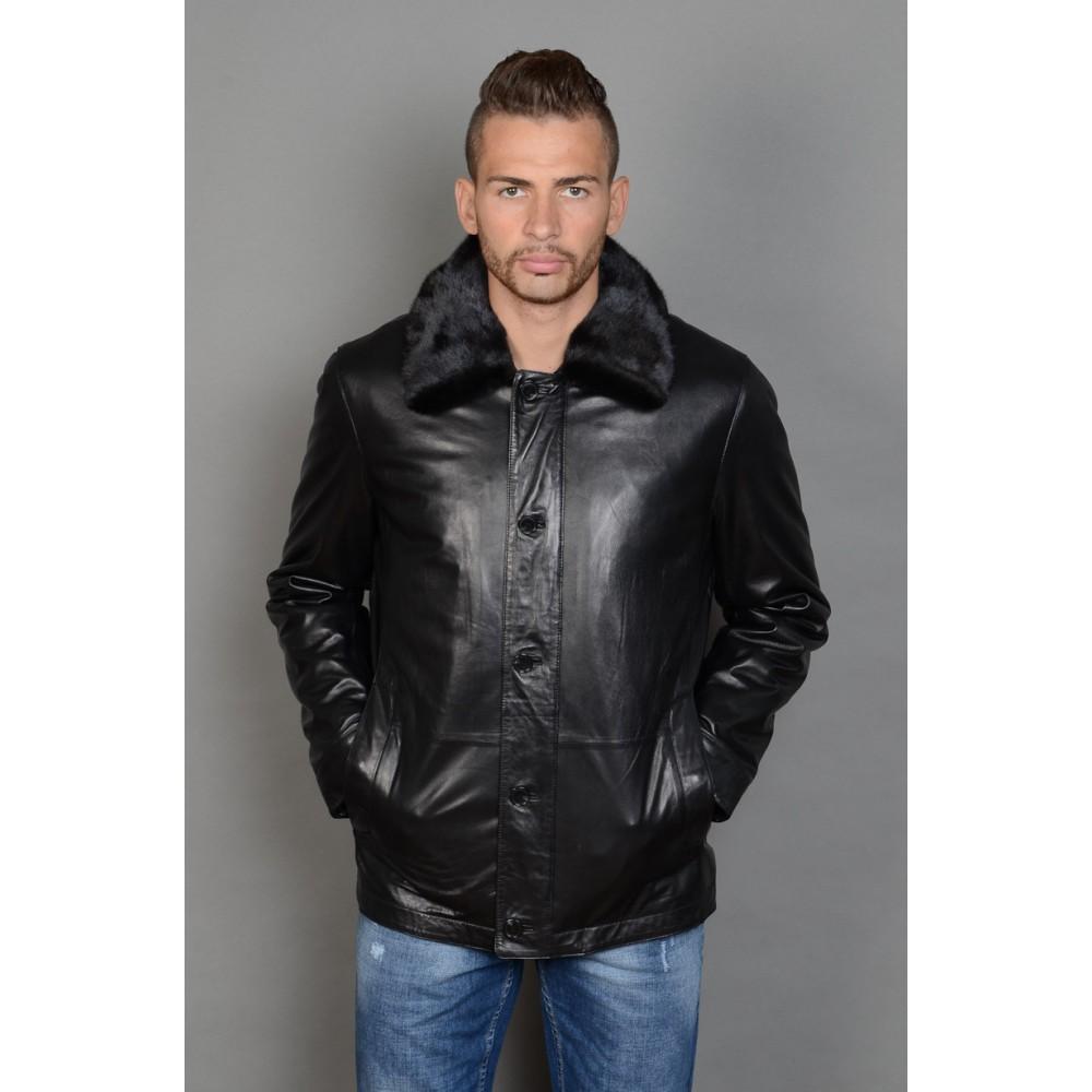 65ce8c5e2fc81 Зимние мужские кожаные куртки: пилот, на меху, с капюшоном