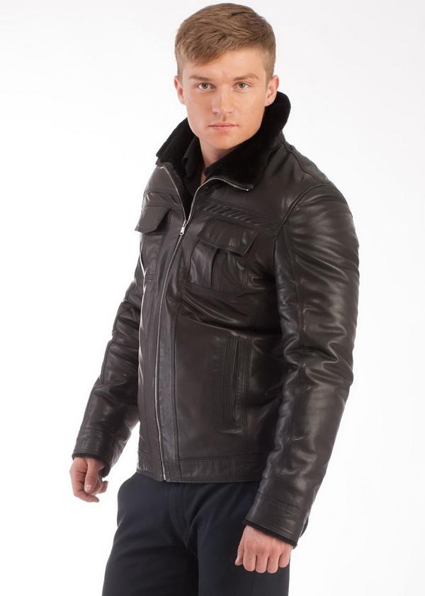 Кожаные Зимние Мужские Куртки