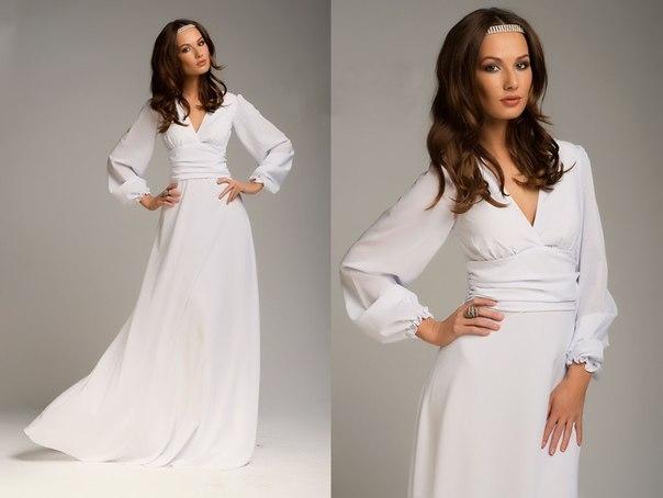 Фото платьев белых в пол