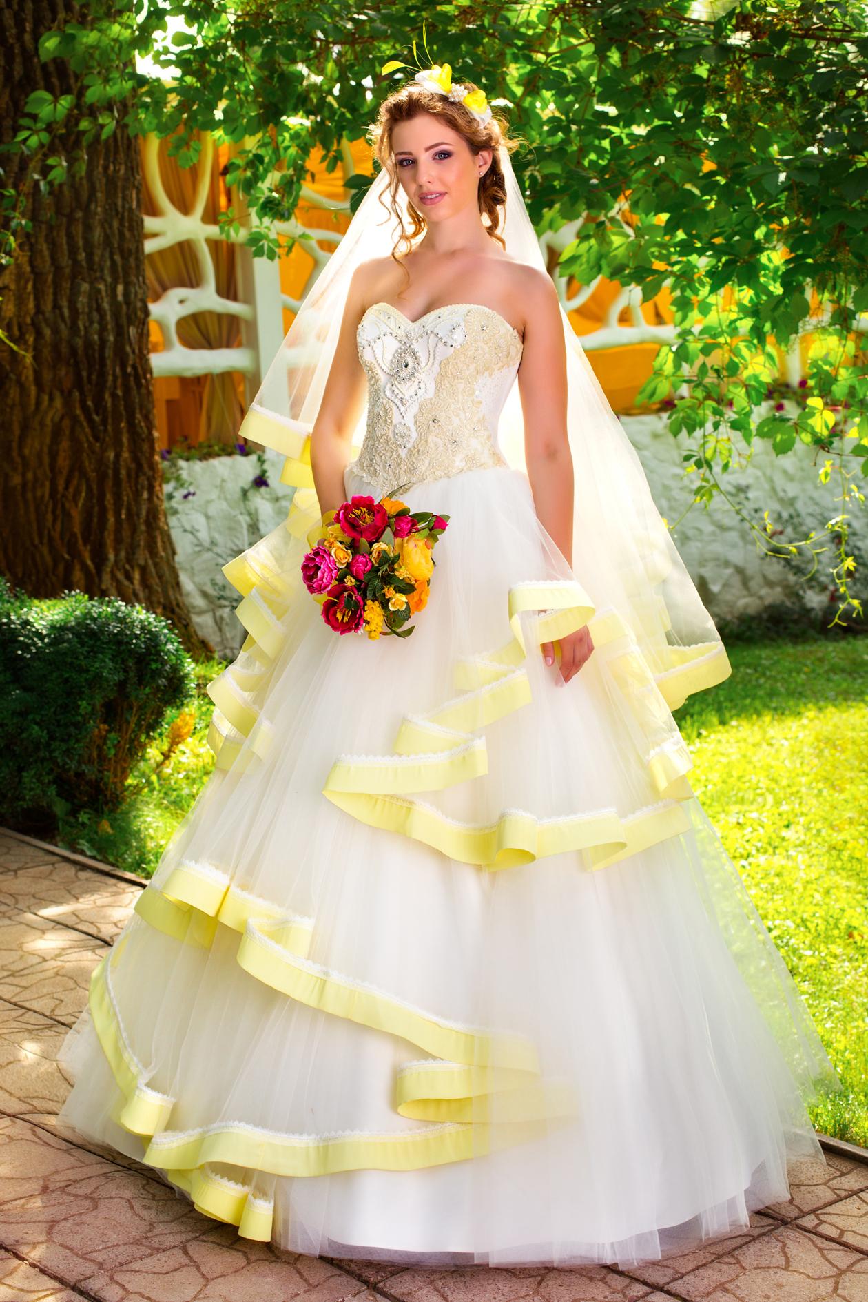 Купить Свадебное Платье Желтое