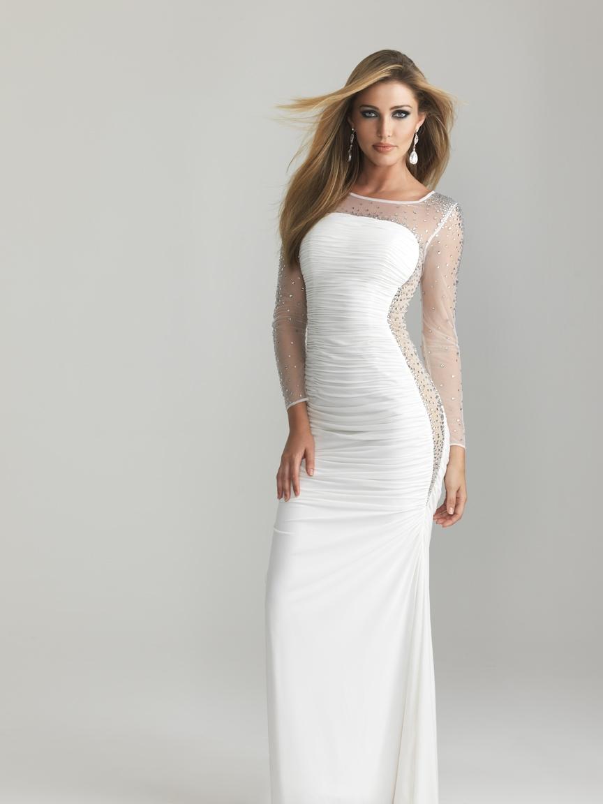 Белое платье в пол нарядное