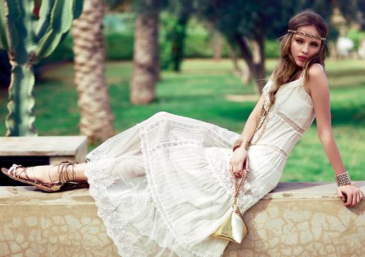 fe8f1cd4233 Белые платья из хлопка с кружевом (41 фото)  стильные