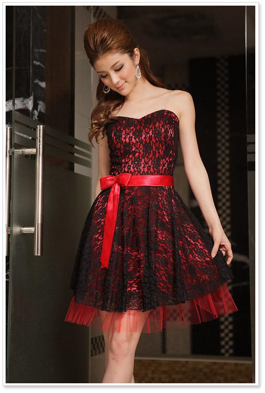 Фото платье красно черное