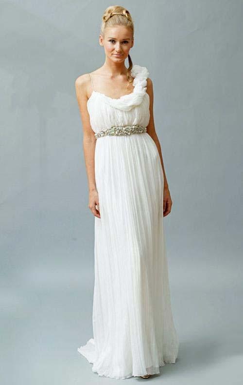 Вечерние прически под греческое платье